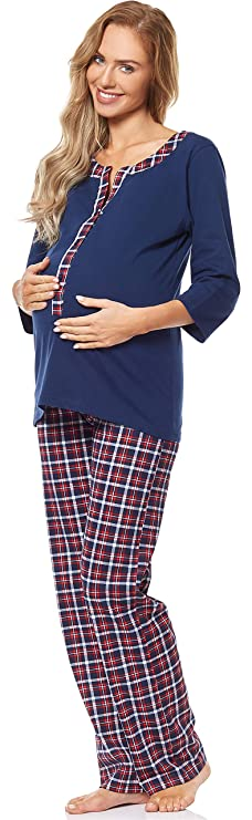 Pijamas premama franela