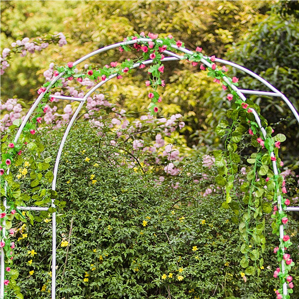 JNYB Arcos para Jardin, Arco Ligero, Soporte de Flores Planta Arco de Hierro Forjado, Estante de Plantas de Flores para la decoración de la Fiesta de cumpleaños de la Boda: Amazon.es: Hogar