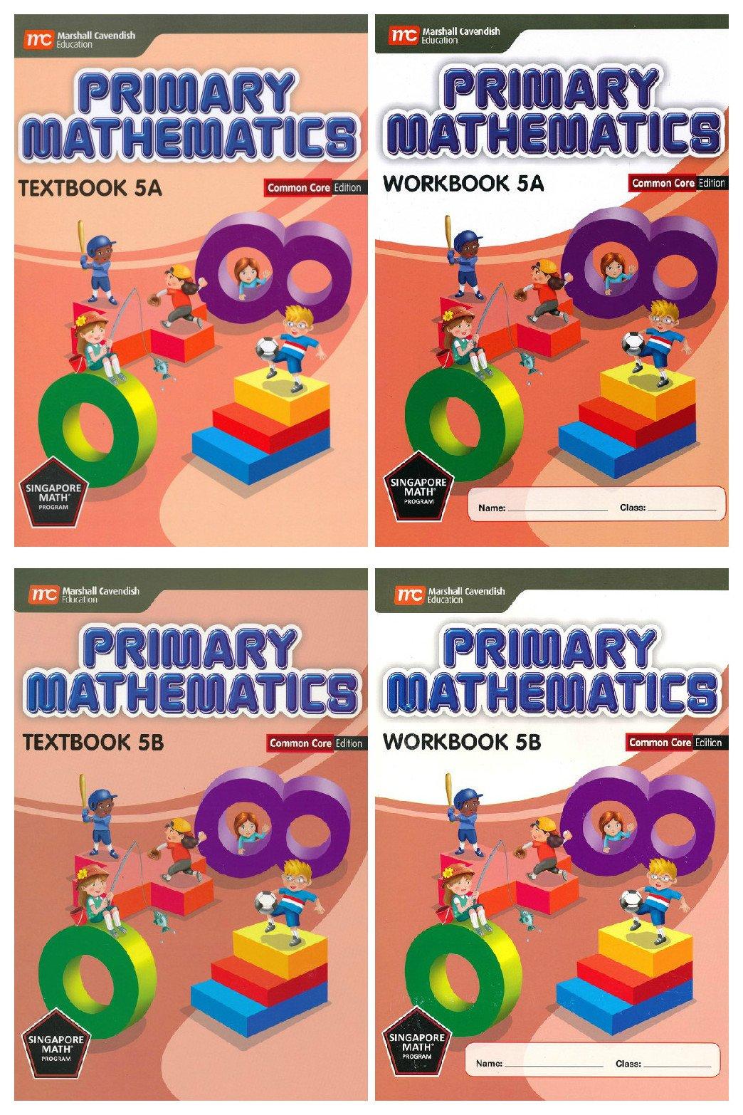 Singapore Math Primary Mathematics Grade 5 Common Core Edition (4 Books) pdf epub