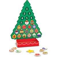 Melissa & Doug Countdown to Christmas Wooden Advent Calendar (Magnetic Tree, 25 Magnets)