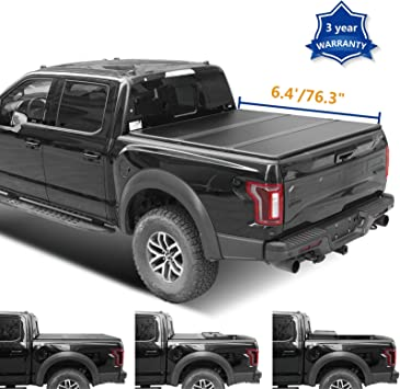 Amazon Com Jj 6 4ft 76 3in Hard Tri Fold Truck Bed For 09 18