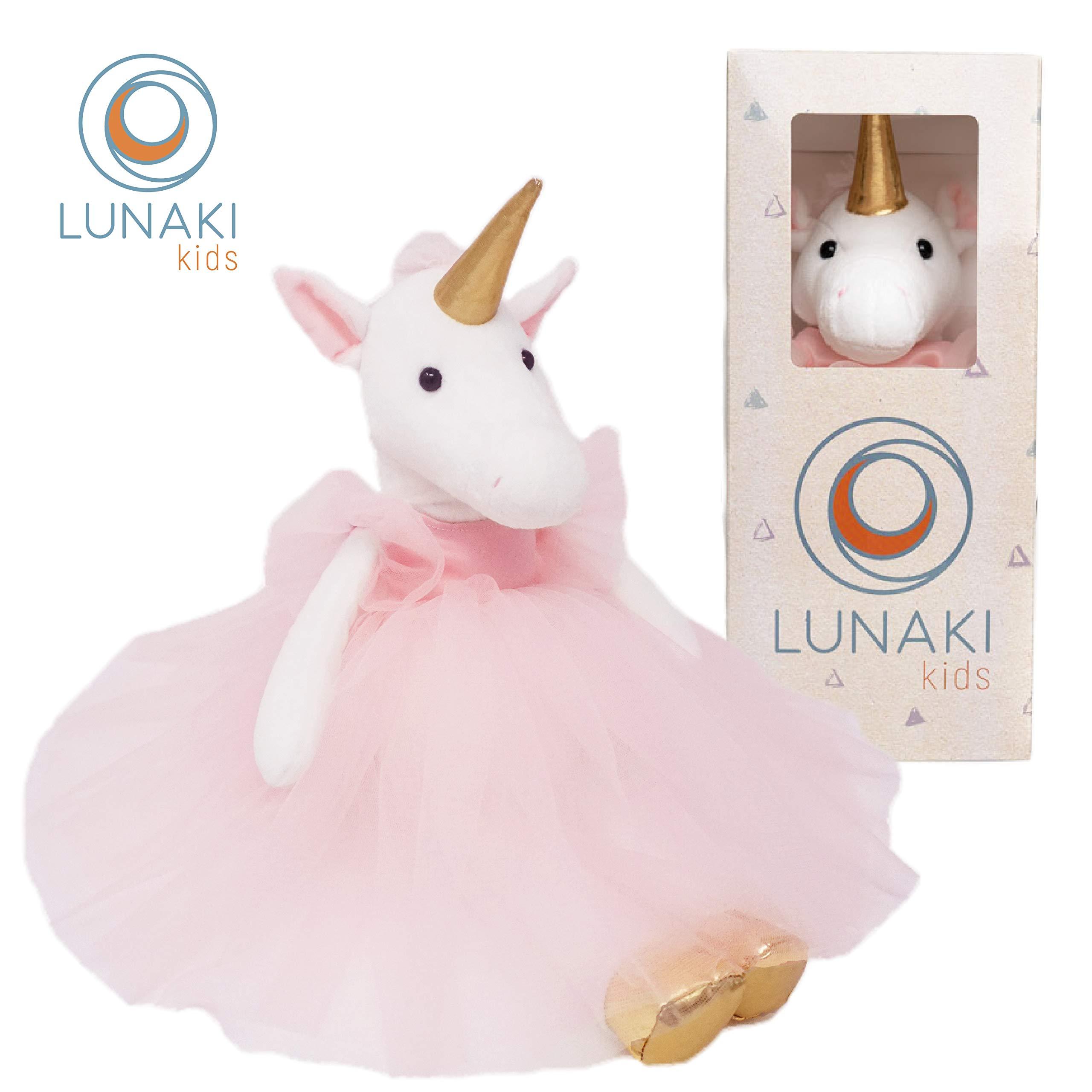 Lunaki Unicorn Stuffed Animal Plush Toy in Pink Tutu Dress - Premium Gift for Girls, Great Unicorns Toys for Birthday, Baby Shower & Christmas - 19 inches by Lunaki