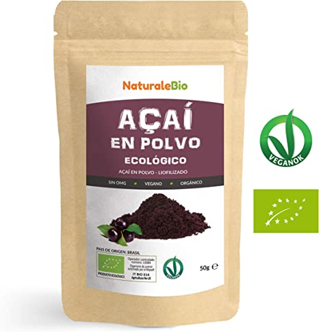 Bayas de Acai Orgánico en Polvo [Freeze - Dried] 50g. Pure Acaí ...