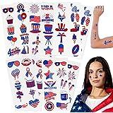 USA Temporary Tattoos   100 temporary tattoos   American Flag, USA, Patriotic Party Temporary Tattoos   USA Game Day Party De