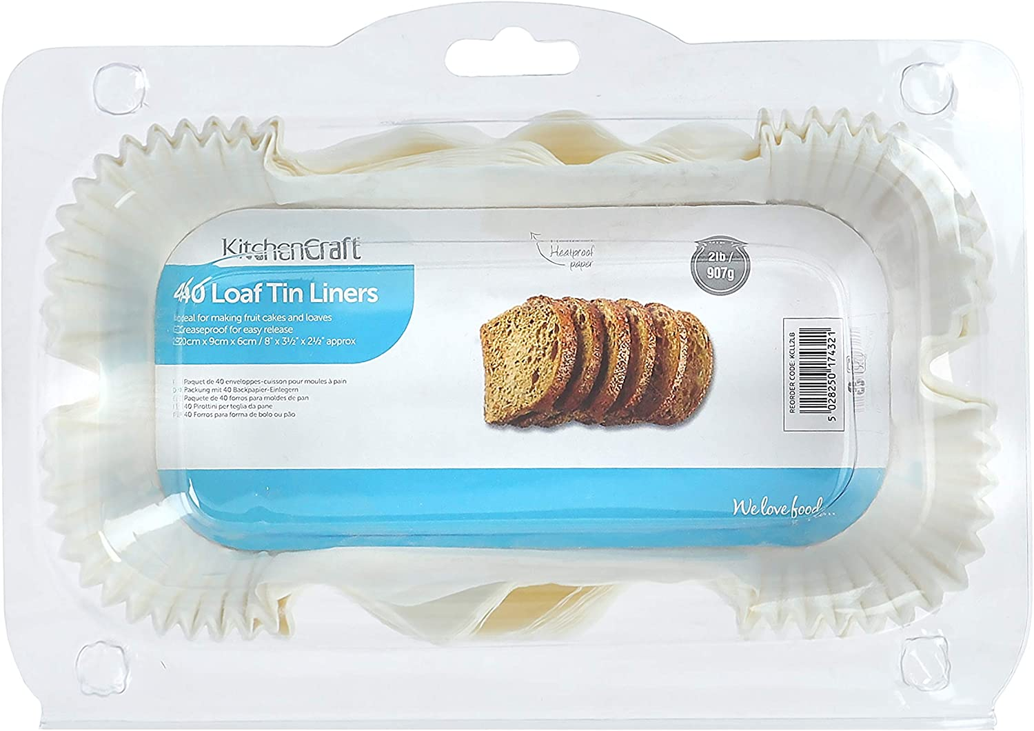 NEW! Pack of 40 Non-Stick Grease Proof 1lb or 2lb Paper Loaf Cake Tin Liners