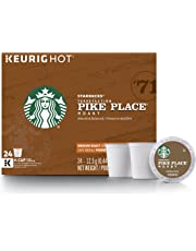 Starbucks Pike Place Roast Medium Roast Single Cup Coffee for Keurig Brewers, 4 boxes of 24 (96 Count K-Cup pods)