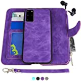 MODOS LOGICOS Samsung Galaxy S20 Plus Case, [Detachable Wallet Folio][2 in 1][Zipper Cash Storage][Up to 14 Card Slots 1 Photo Window] PU Leather Purse with Removable Inner Magnetic TPU Case - Purple