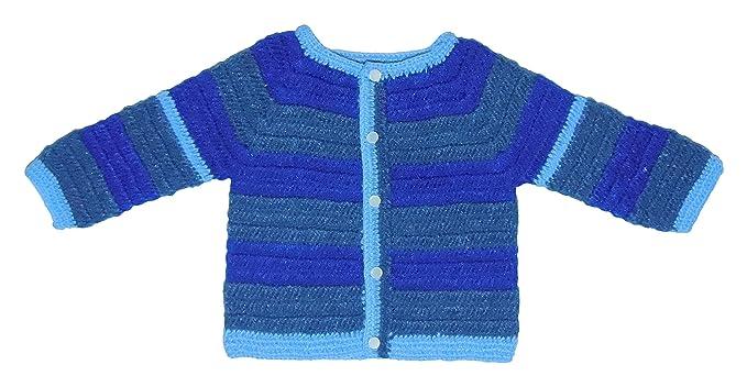 Sr Handicrafts Baby Boys Wool Sweater Sh045 6 12 Months Blue 6