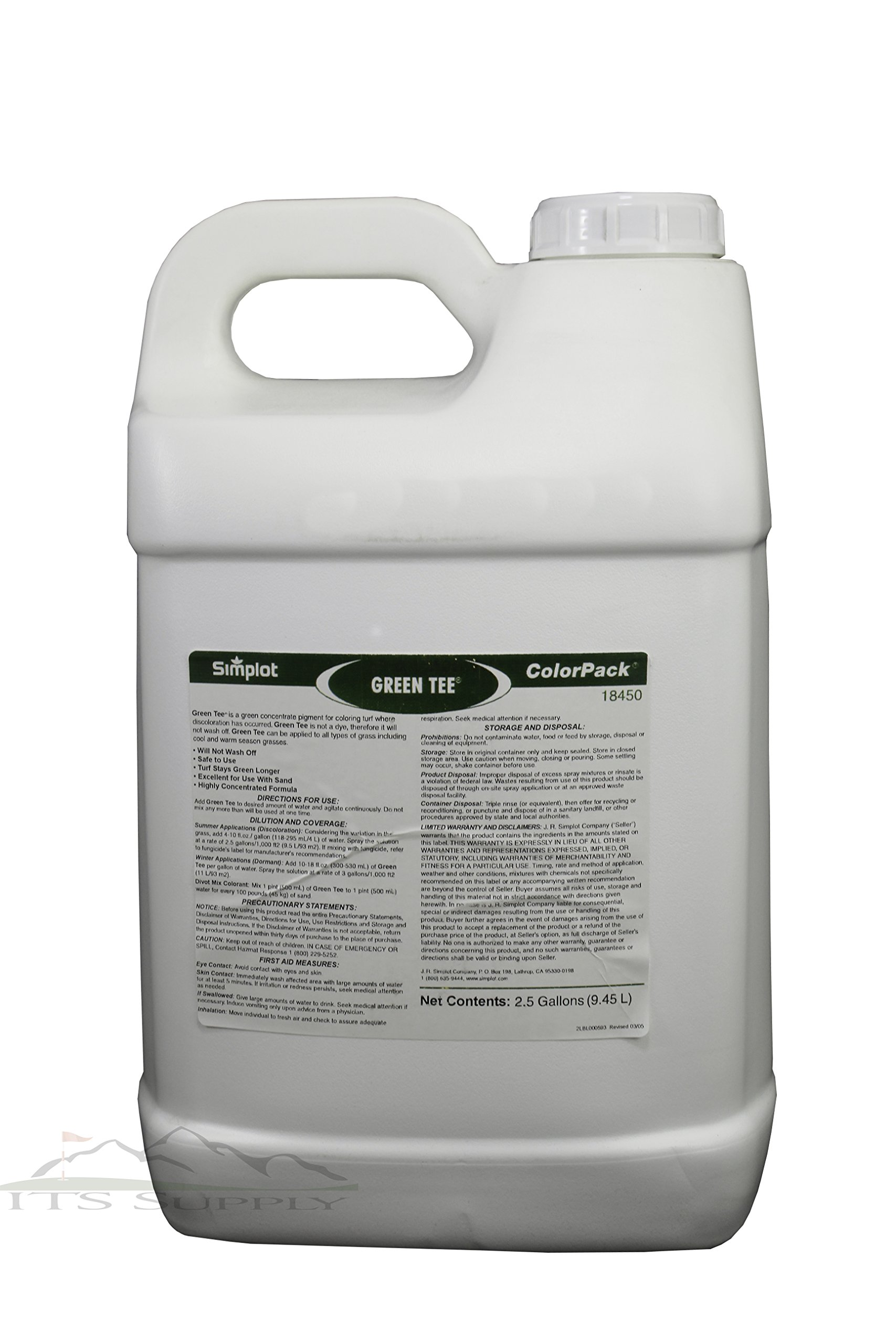 Green Tee Turf Colorant Lawn Paint 2.5 Gallons Covers 15,000 to 30,000 square feet-Concentrated and professional grade colorant to improve the look of your lawn
