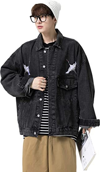 LYBBJM デニム ジャケット メンズ ジージャン アウター ヒップホップ Gジャン 長袖 ファッション 人気 大きいサイズ