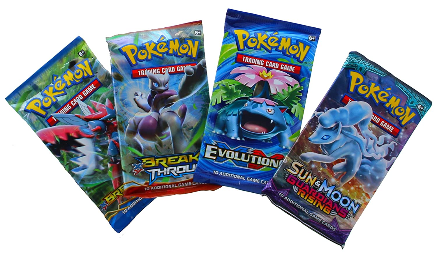 4x Full Set of 4 Pokemon Generations Booster Packs NEW Sealed Pack Boosters