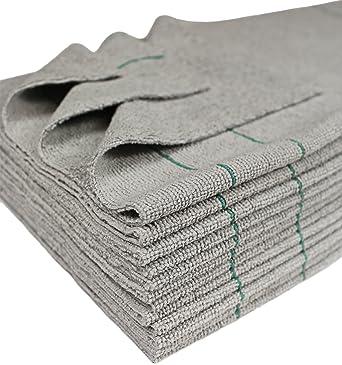 Cleanaide antimicrobiana toallas de plata de Ultra corte 16 x 16 en. Verde pin 12