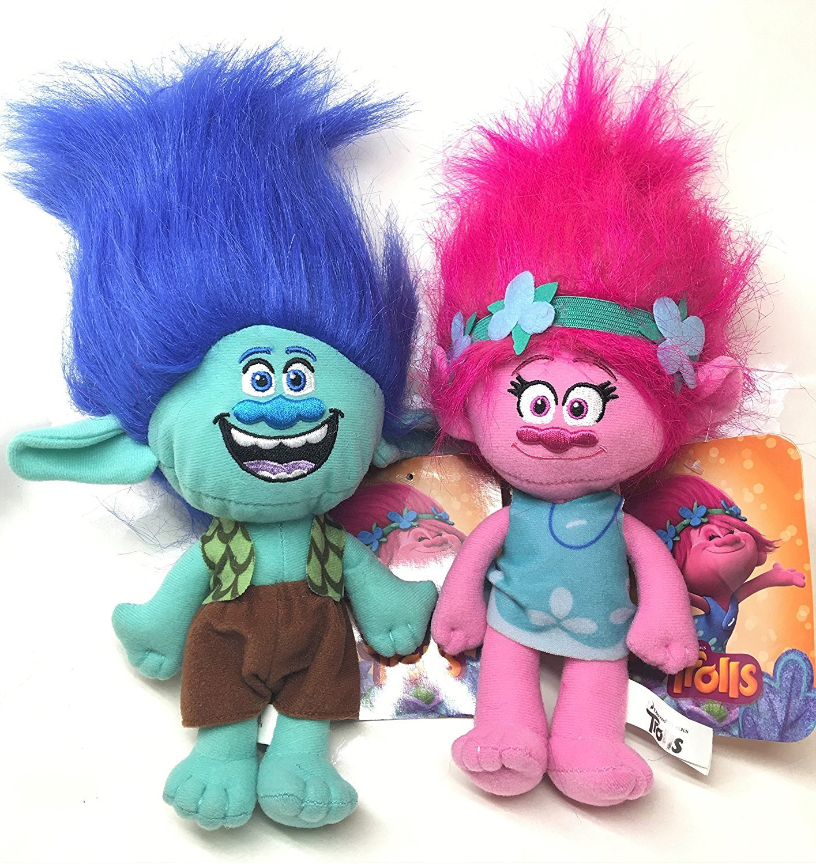 DreamWorks Trolls Movie - Trolls Branch and Poppy 15'' Doll Set - 2 Piece Set by Trolls