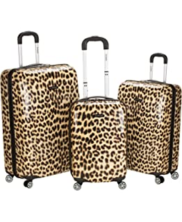 66f16bc84 Amazon.com | Karriage-Mate Leopard Hardside Spinner Luggage (Set of ...