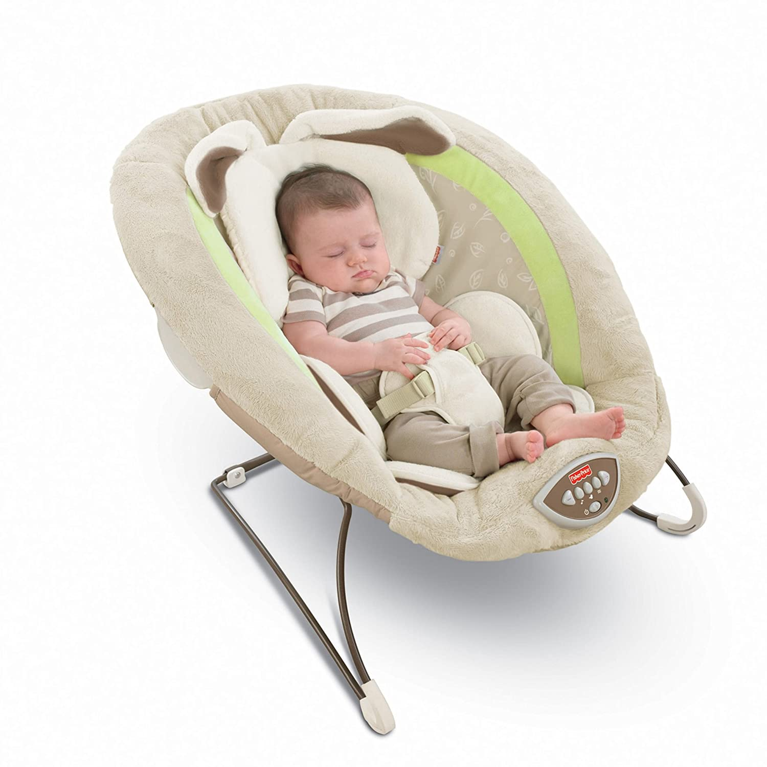 Amazon.com : Fisher Price Deluxe Bouncer, My Little Snugabunny : Infant  Bouncers And Rockers : Baby
