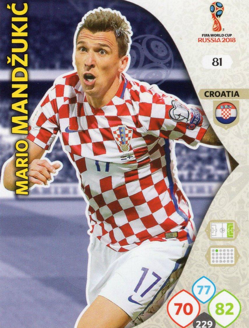 Juego de 9 cromos de la selección de fútbol de Croacia ...