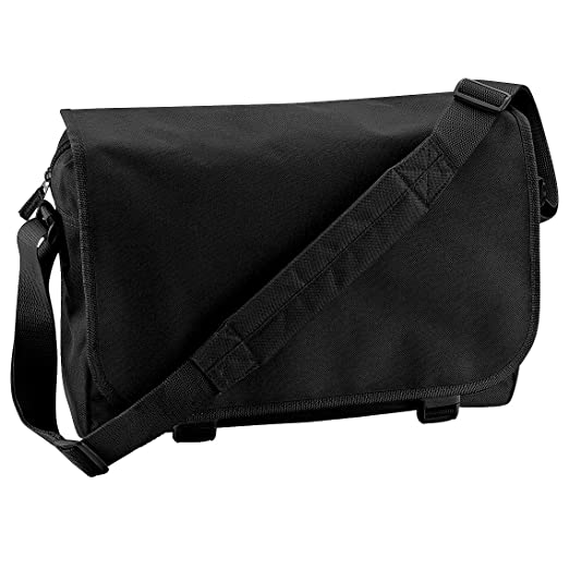 Bagbase Adjustable Messenger Bag (11 Liters) (One Size) (Black)