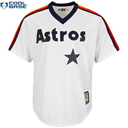 Image Unavailable. Image not available for. Color  Majestic Nolan Ryan  Houston Astros  34 MLB Men s Cool Base 1986 Cooperstown Pullover Jersey  White 0d2d39ec5