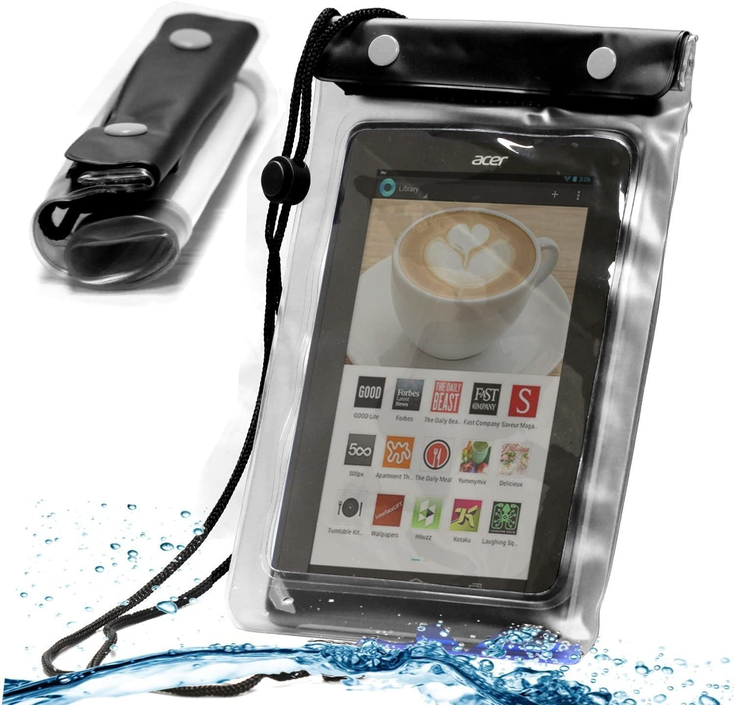 Navitech Black Waterproof Case/Waterproof Cover Compatible with The Acer Iconia One 10 Tablet B3-A40