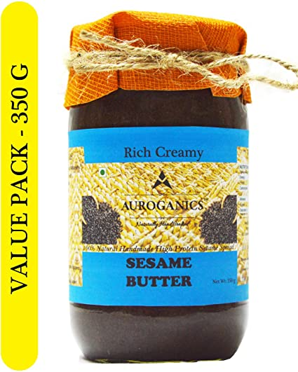 Auroganics Rich Creamy Sesame Butter 350 Gm