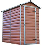 Palram SkyLight Shed 4x6ft Durable Storage – Amber
