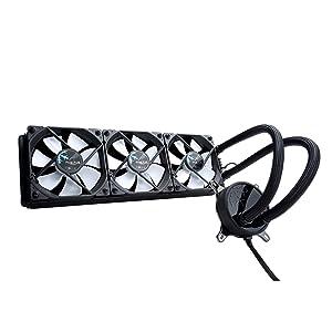 "Fractal Design Celsius S36-360 mm Radiator - Silent Liquid CPU Cooler - PWM - Intelligent Controls - 3X Dynamic X2 PWM GP-12 120mm Silent Fans Included - 1/4"" Fitting - Black"