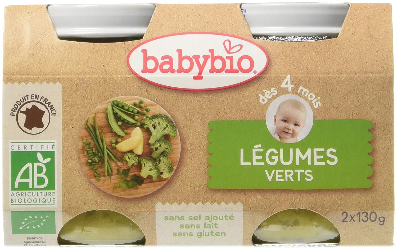 Babybio Pots Légumes Verts 260 g - Lot de 6 51041 alimentation bébé diversification