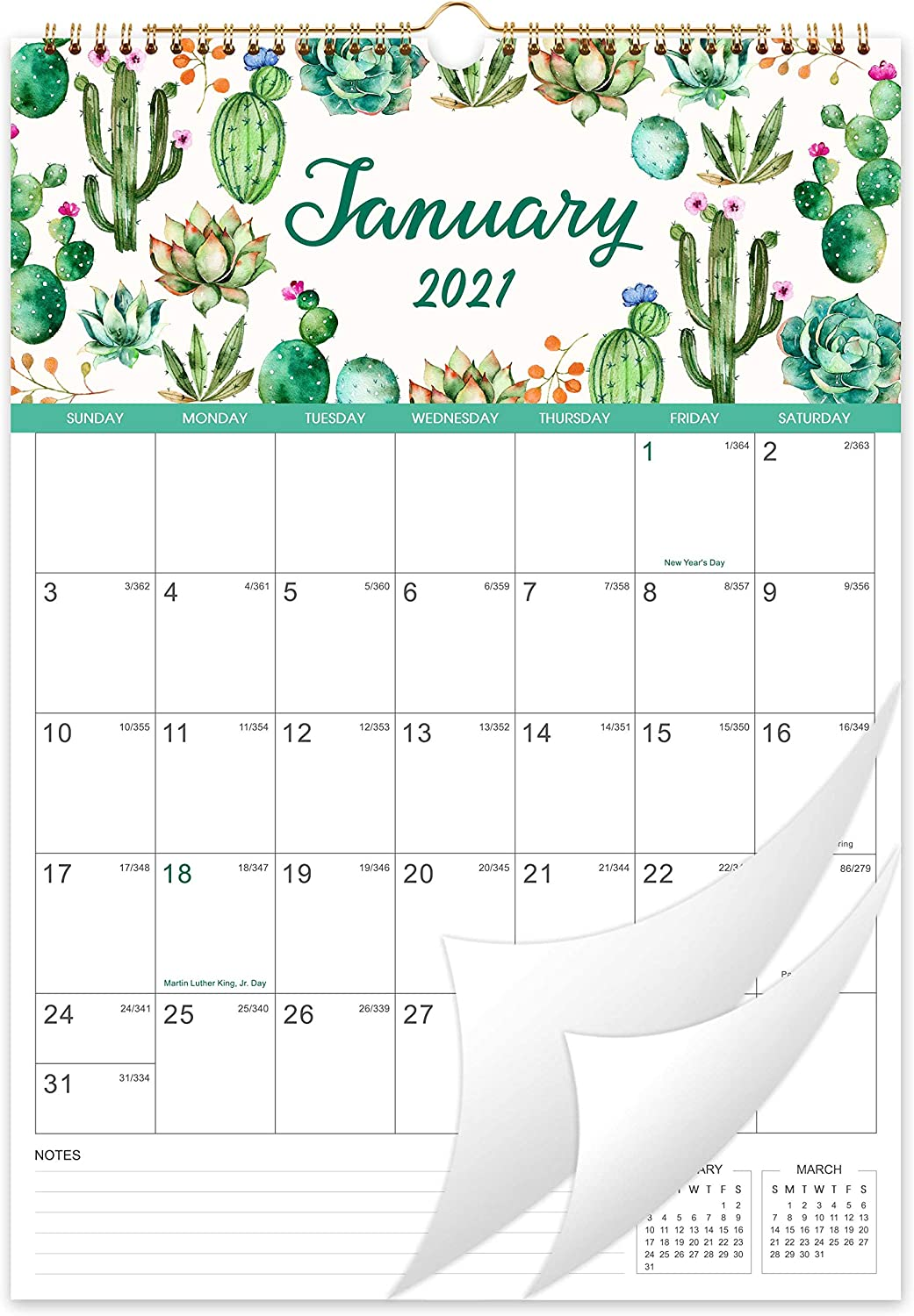 Monthly Calendar 2021 Amazon.: Calendar 2021 12 Monthly Wall Calendar Planner Jan