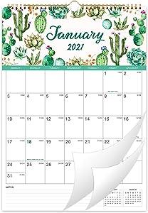 2021 Calendar - Wall Calendar 2021, 12