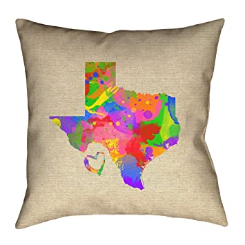 ArtVerse Katelyn Smith 26 x 26 Poly Twill Double Sided Print with Concealed Zipper /& Insert Colorado Pillow