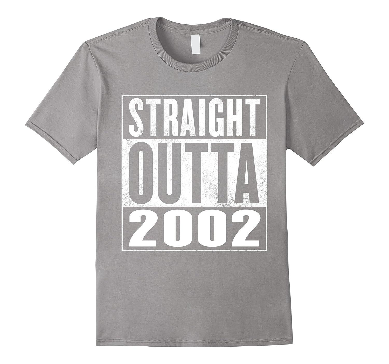 14th Birthday Gift T-Shirt - Straight Outta 2002 Shirt-FL