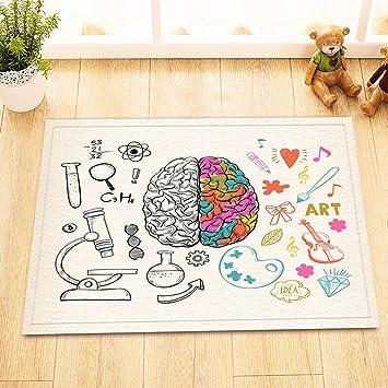 Hand gezeichnete Wissenschaft und Kunst im menschlichen Gehirn,Bild ...