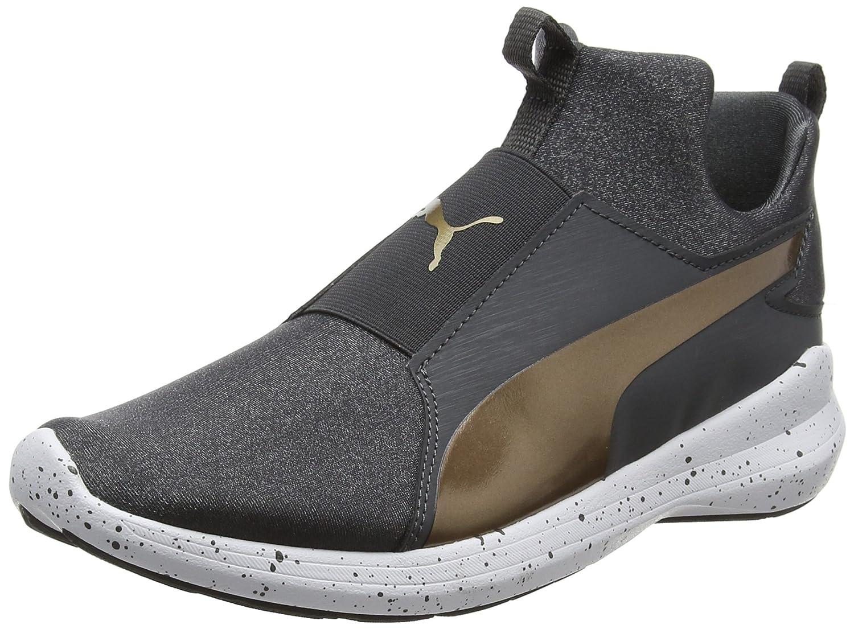 Puma WNS Damen Rebel Mid WNS Puma Speckles Sneaker Schwarz (Asphalt-bronze) ba0a73