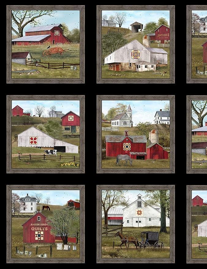 Against the wind 24x44 panel by Elizabeth/'s Studio 100/% Quilting Cotton Fabric ES-9610-Black