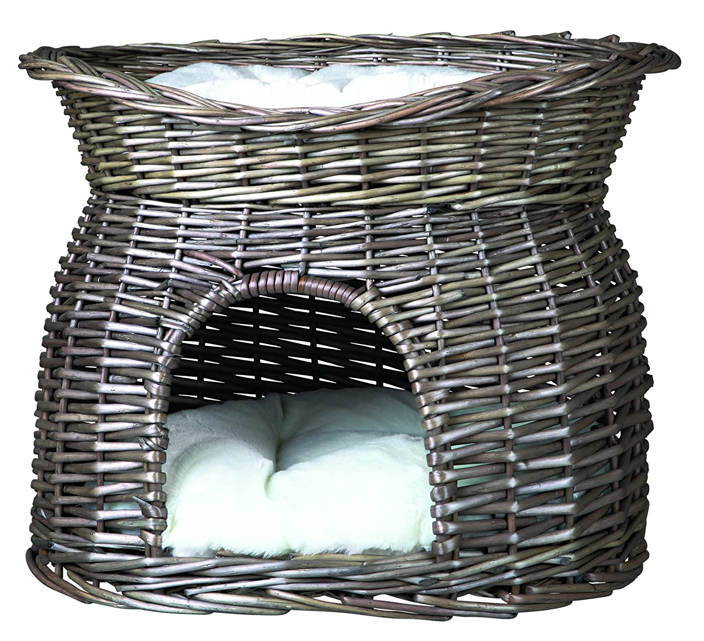 Trixie en osier pour chat avec sur le dessus de lit et coussins, 54x 43x 37cm, gris 4053032028739