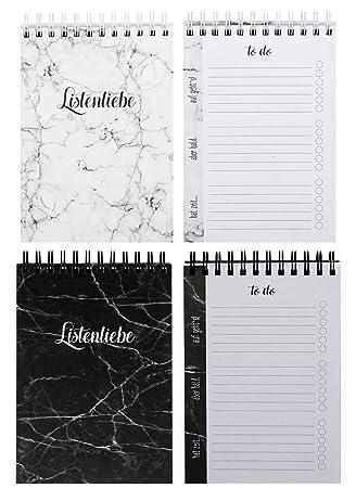 Lunes Amor to do lista Set, Bundle pares, 2 x 100 Páginas ...