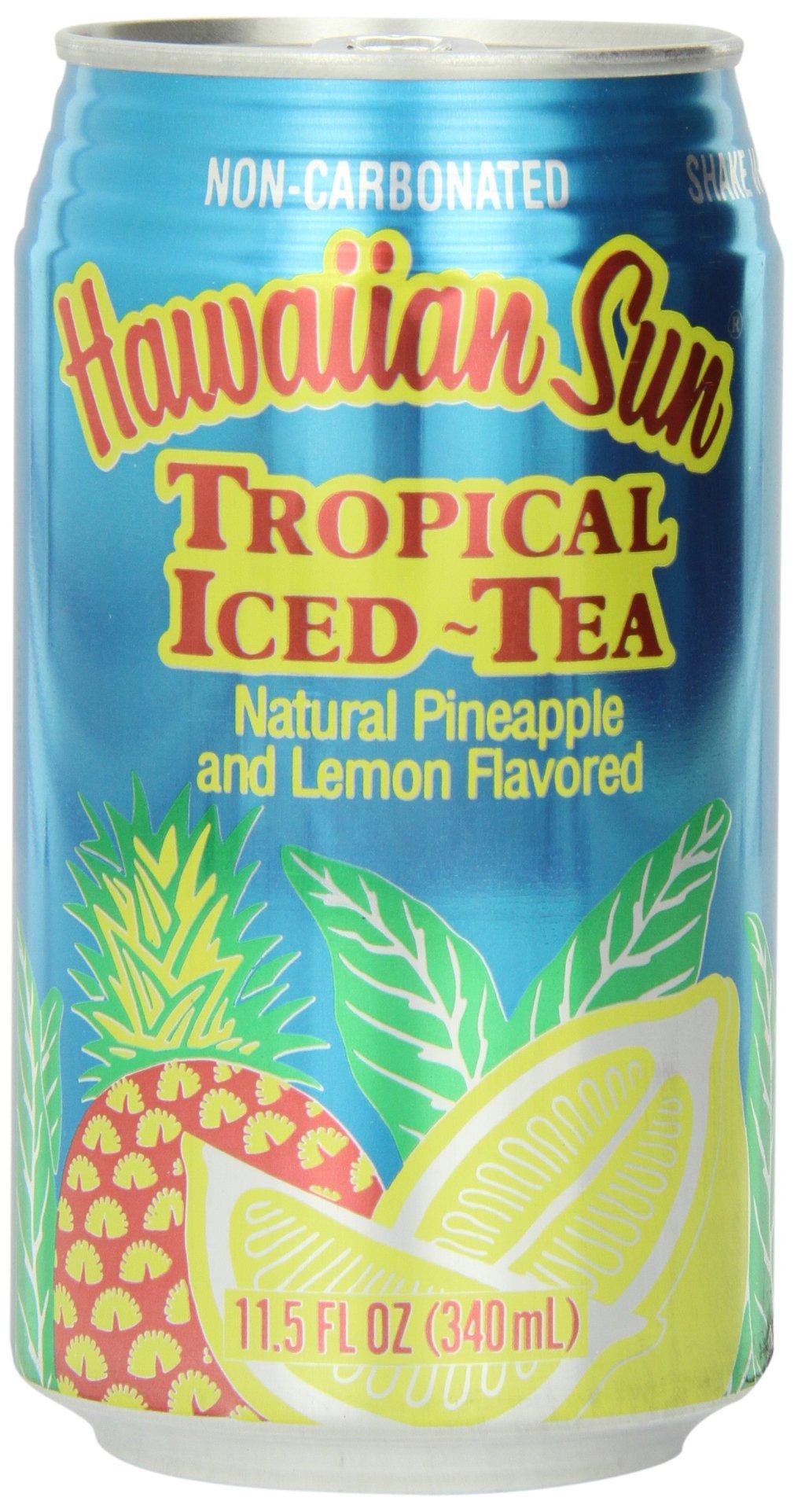 Hawaiian Sun Iced Tea, Tropical, 11.5-Ounce (Pack of 24)