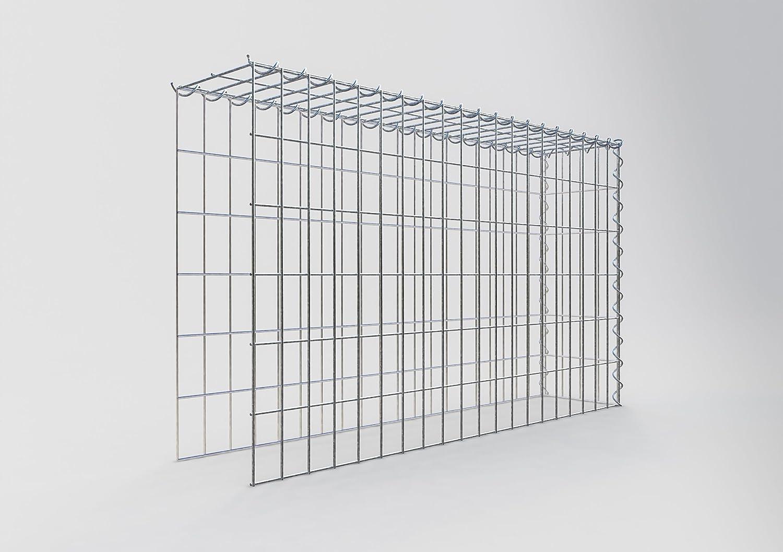Maschenweite 5 x 10 cm Gabionen ANBAU-GABIONE Typ2 Steinkorb 100 x 40 x 40 cm