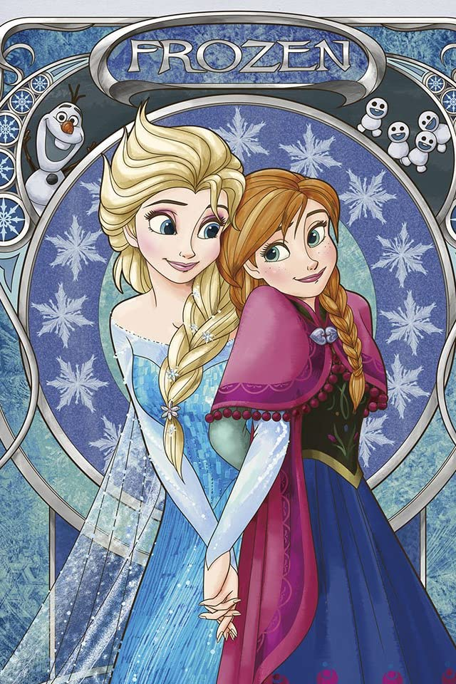 ディズニー アナと雪の女王  アナ&エルサ iPhone(640×960)壁紙画像
