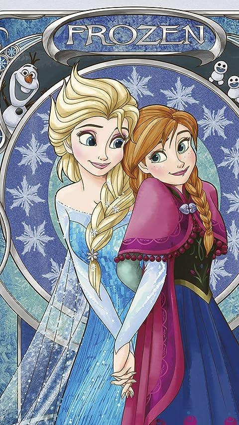 ディズニー アナと雪の女王  アナ&エルサ XFVGA(480×854)壁紙画像