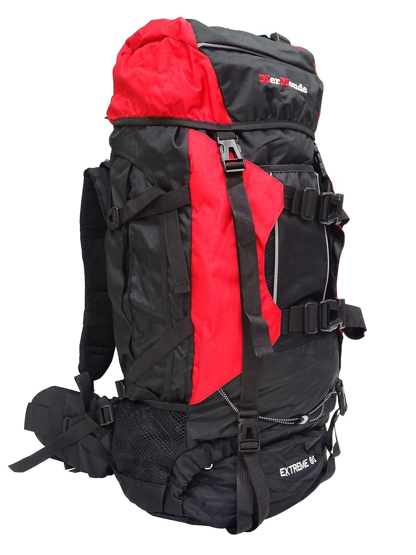 【MerMonde メルモンド】 登山 アウトドア 大型 リュック ザック バックパック 80L レッド