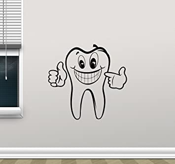 Tooth Wall Decal Stomatology Dentist Dental Clinic Care Logo Emblem Teeth  Hospital Medicine Vinyl Sticker Office