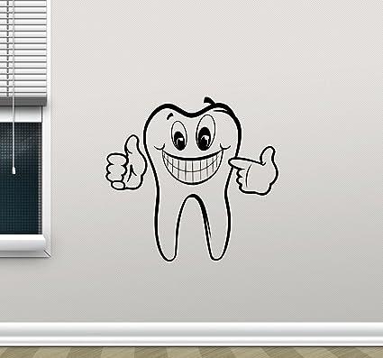 Charmant Tooth Wall Decal Stomatology Dentist Dental Clinic Care Logo Emblem Teeth  Hospital Medicine Vinyl Sticker Office