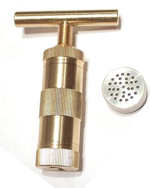 """T Tincture Press Brass 3.5/"""" Spice Pollen Crusher Garlic Ginger Extractor"""