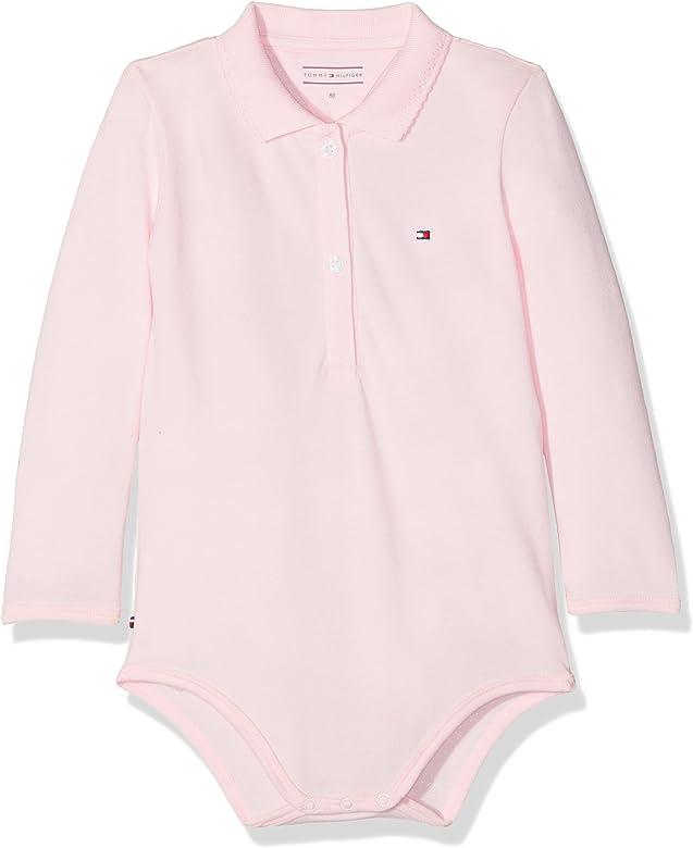 Tommy Hilfiger Baby Polo Body L/S, Rosa (Ballerina 612), 62 para ...