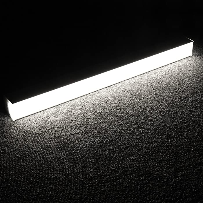 Lagute LEDGo Linkable LED Light System | Create Your own DIY Custom Light fixtures | Perfect for Office, Basement, Photo Studio, Closet, and More! | 2FT Tube 20W Daylight 5000K Cool White