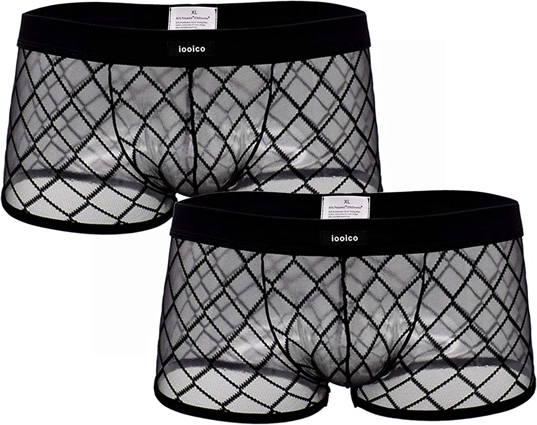 iooico Bóxer para Hombre, Malla Suave Ropa Interior Transparente Air 2.0 - Diseño de Nido de Abeja