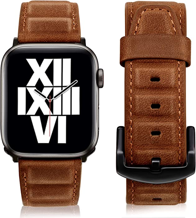The Best Apple Watch 44Mm Band Brown Leather