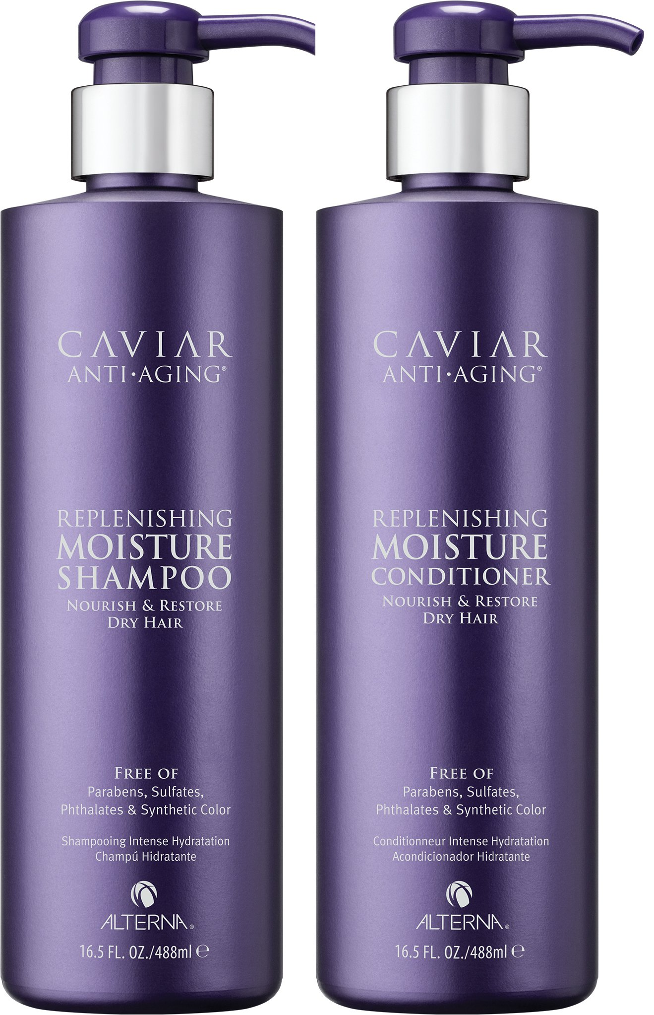 Caviar Anti-Aging Replenishing Moisture Shampoo and Conditioner Set, 16.5-Ounce