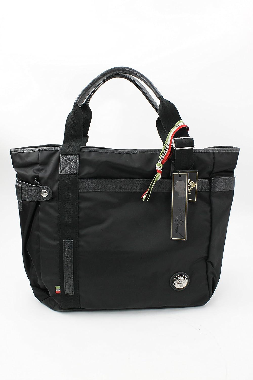 オロビアンコ Arinna Superpocket ナイロン ブラック トートバッグ [並行輸入品] B074KZ53VS